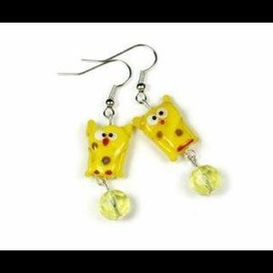 Jewelry - Super Cute Yellow Owls Handmade Earrings New